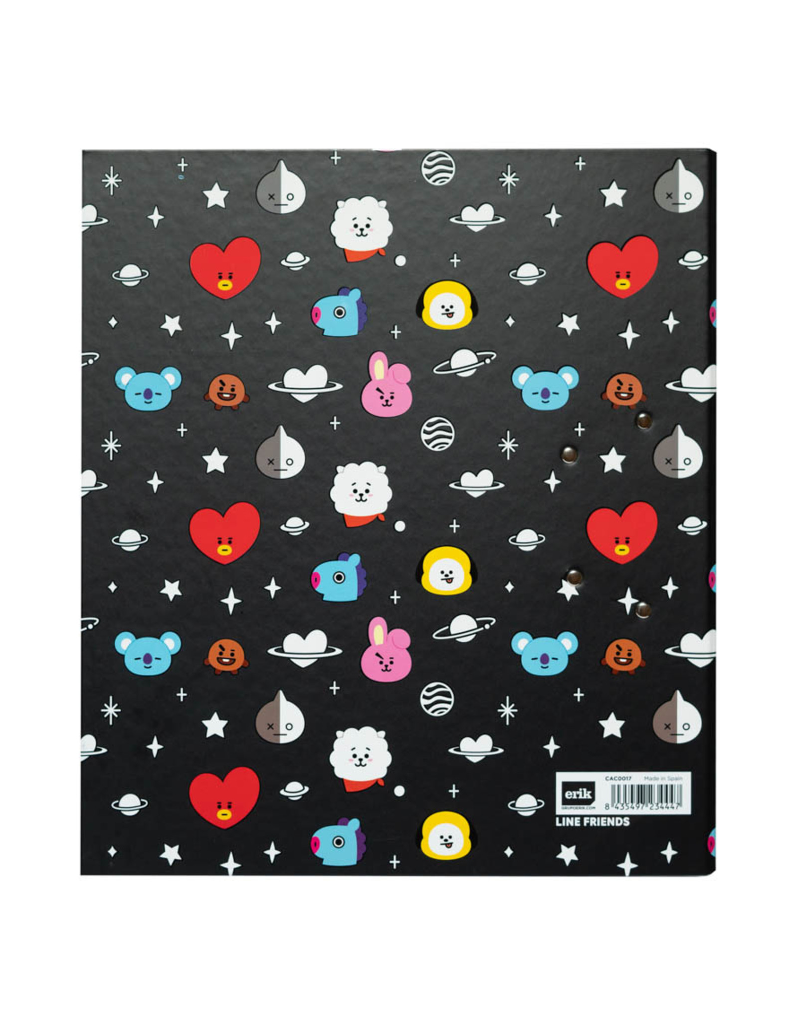 binder with clip from BT21