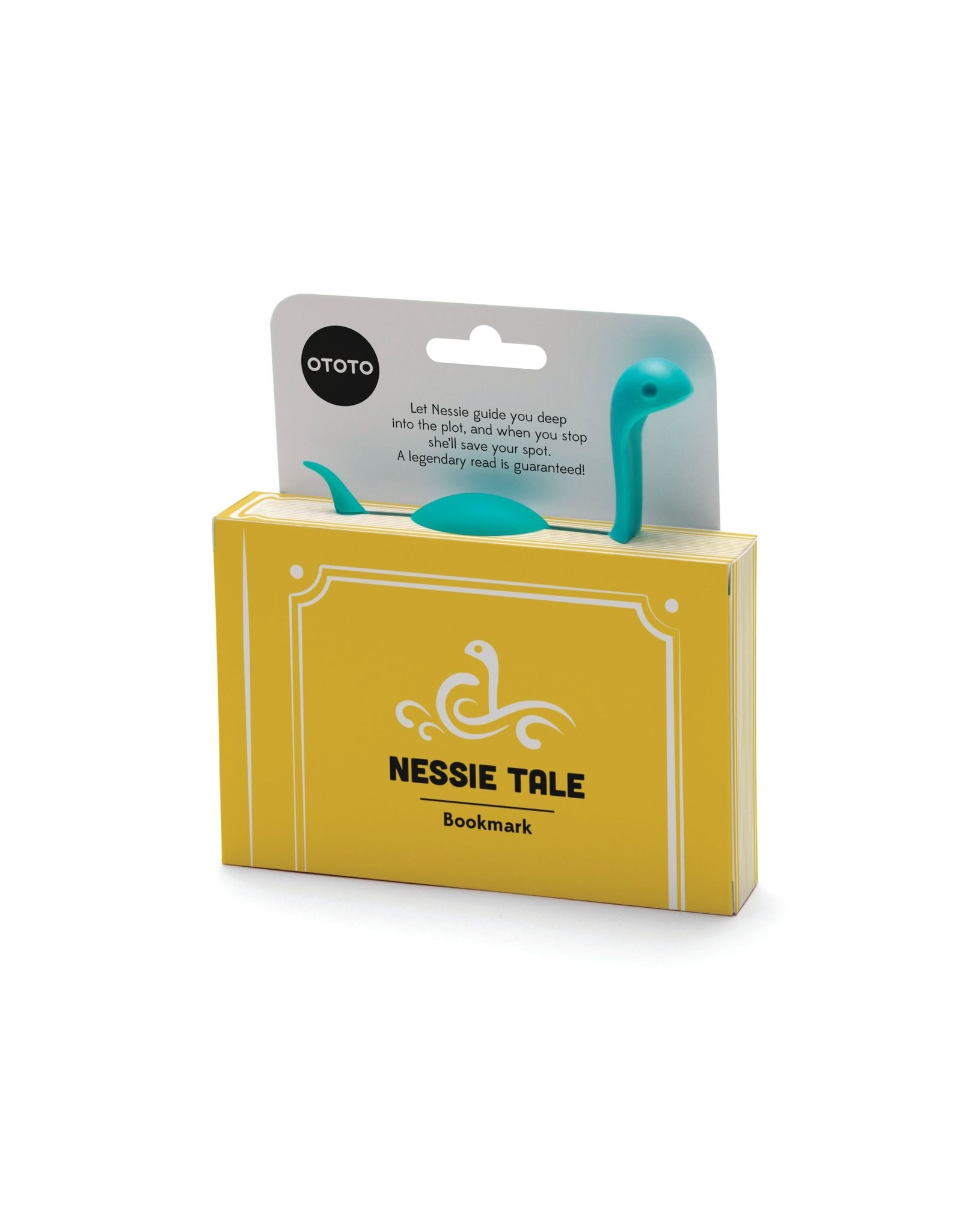 Ototo bookmark shaped like Nessie (turquoise)