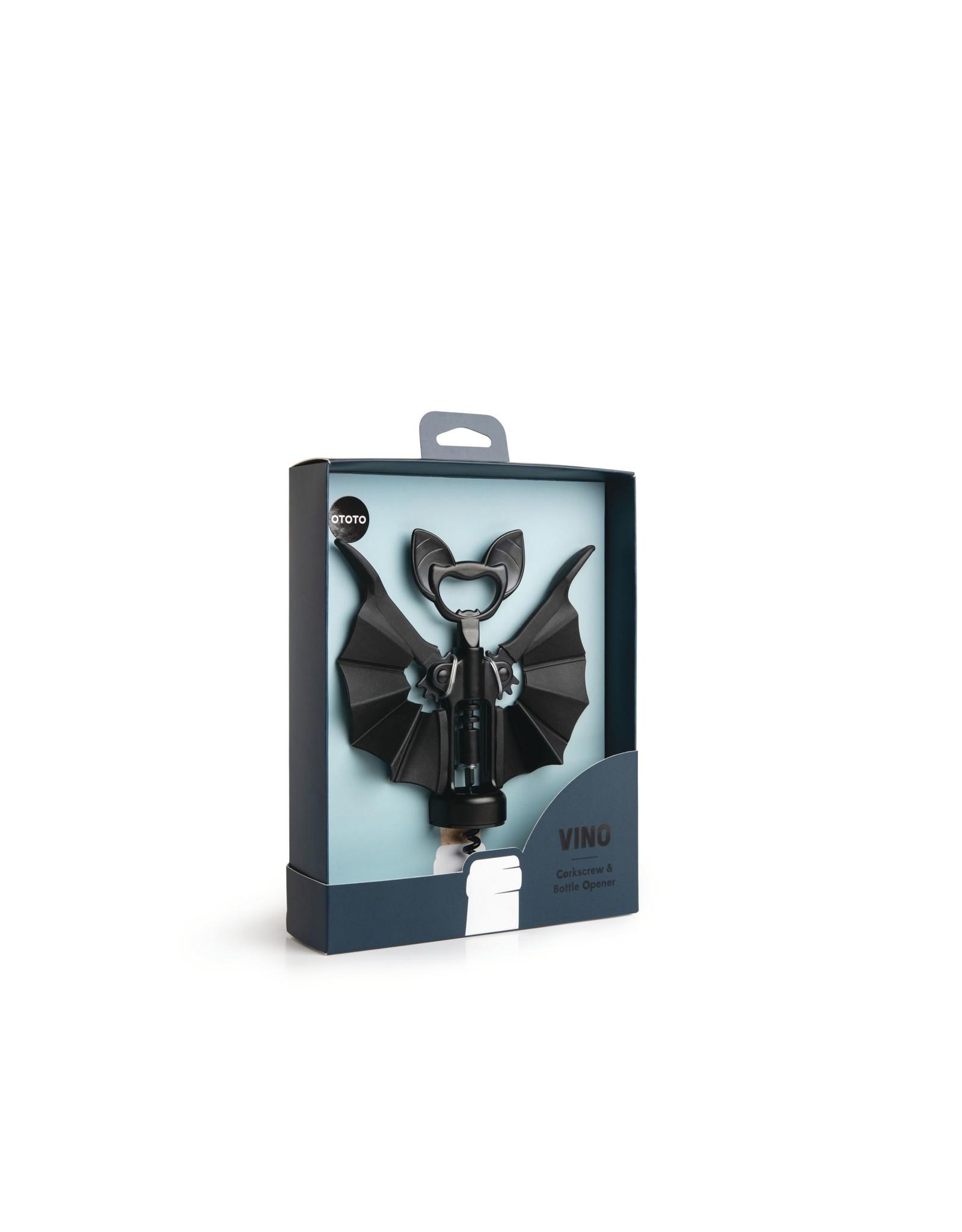 Ototo corkscrew/bottle opener in the shape of a bat