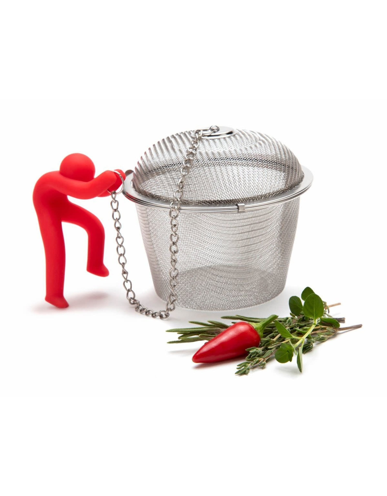 Monkey Business herb infuser with climbing figure