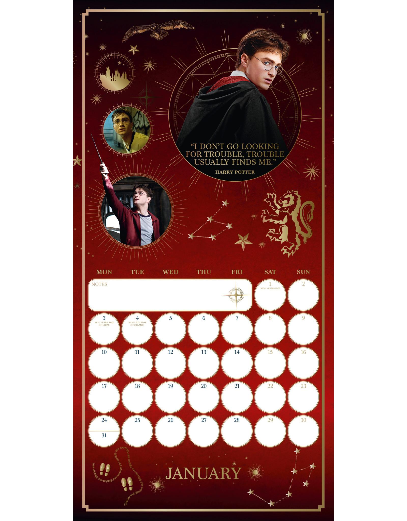 calendar 2022 of Harry Potter