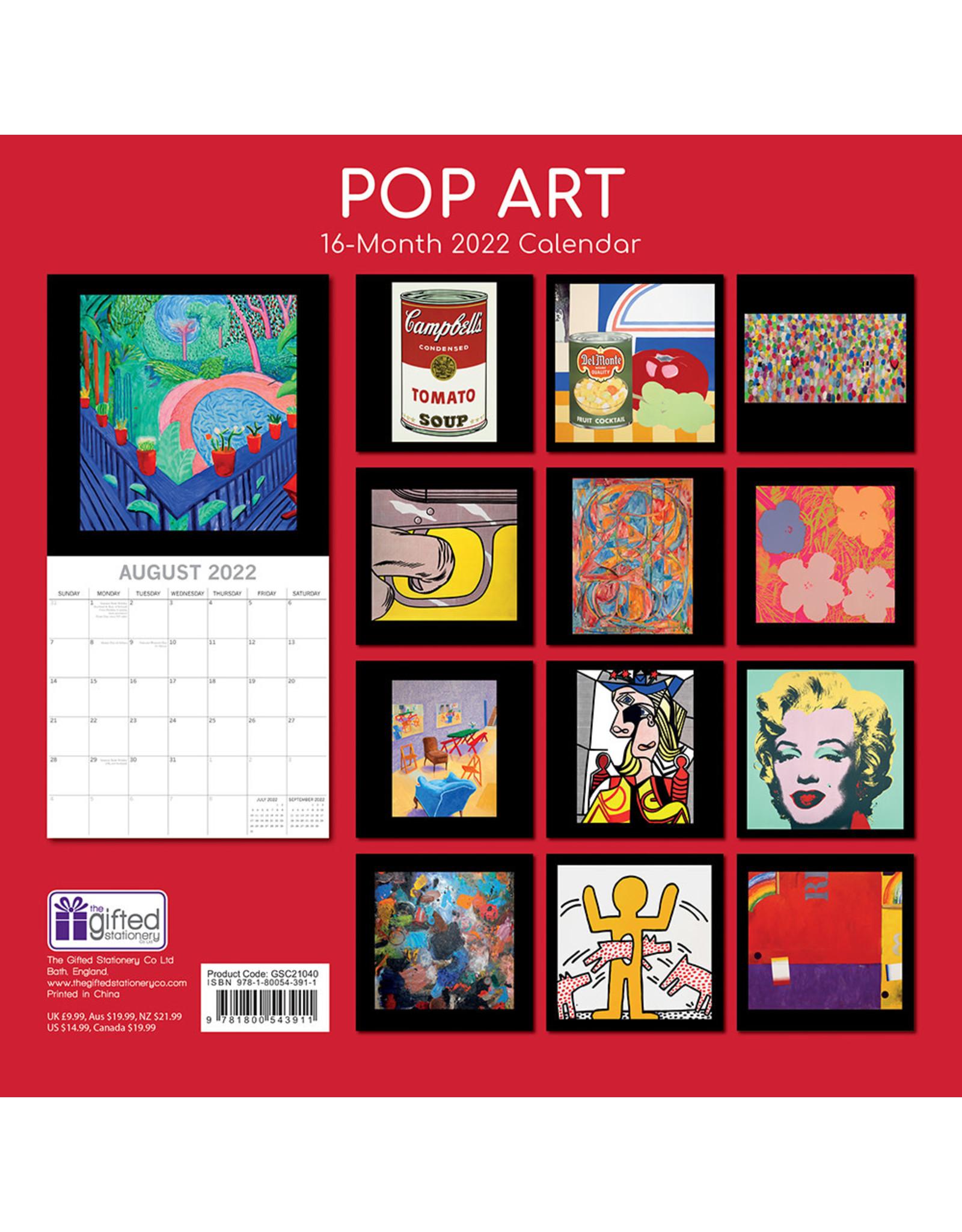 calendar 2022 with pop art pictures