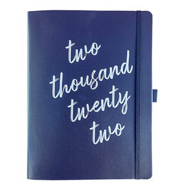 Graphique diary 2022 - 18mths - faux leather - navy text