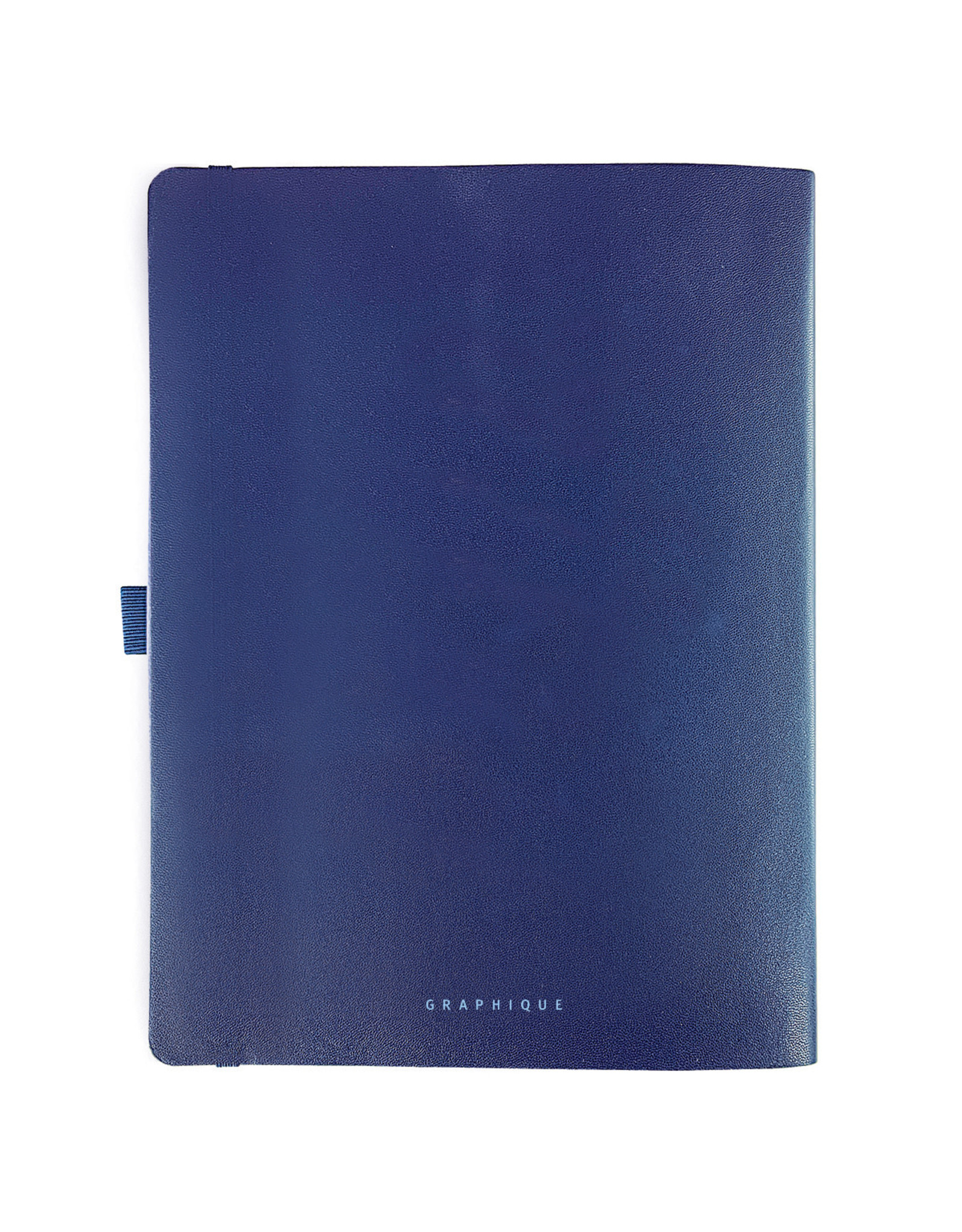Graphique diary (18 months) with faux leather (navy text)