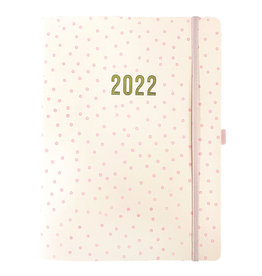 Graphique diary 2022 - 18mths - faux leather - polka dots