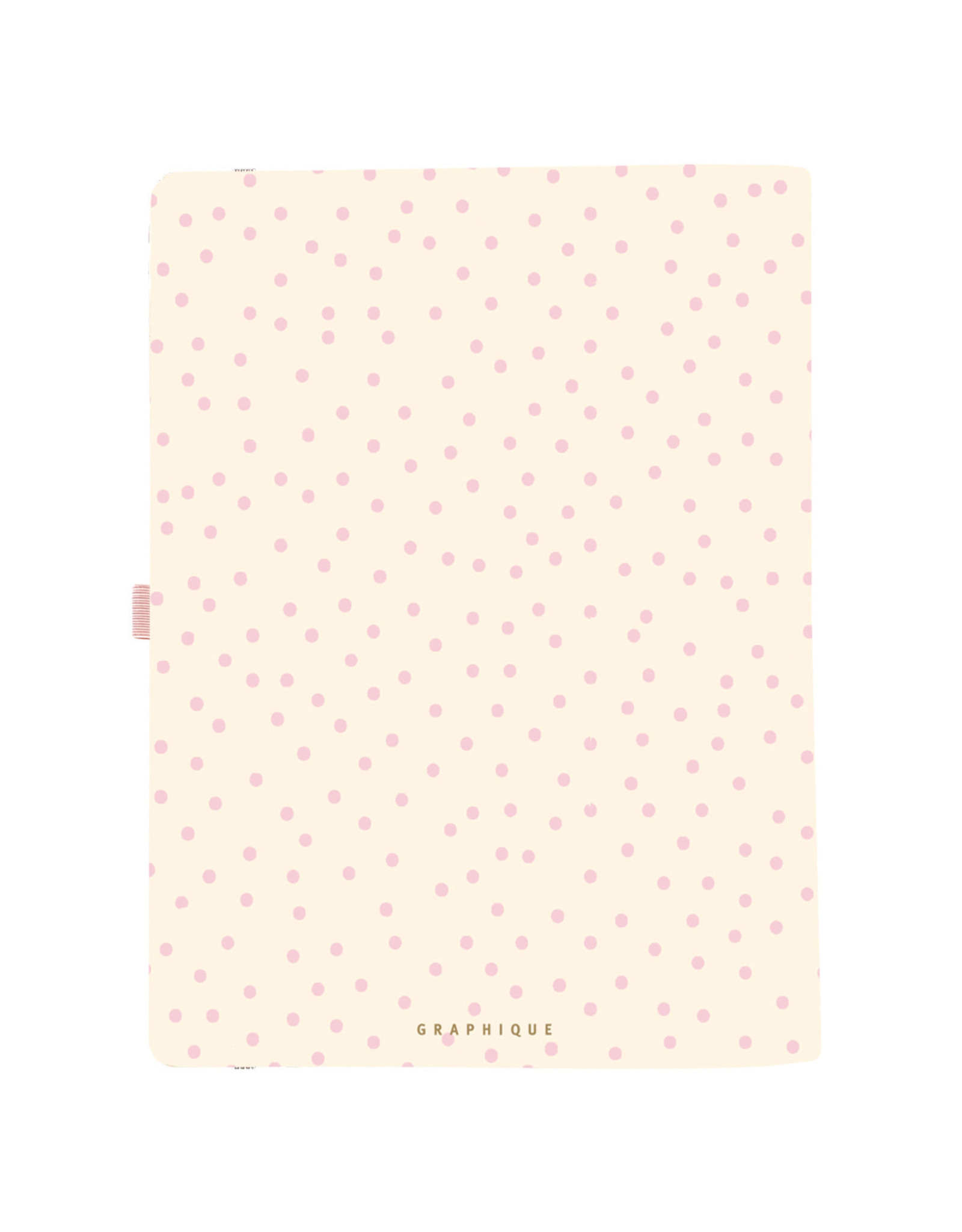 Graphique diary (18 months) with faux leather (polka dots)