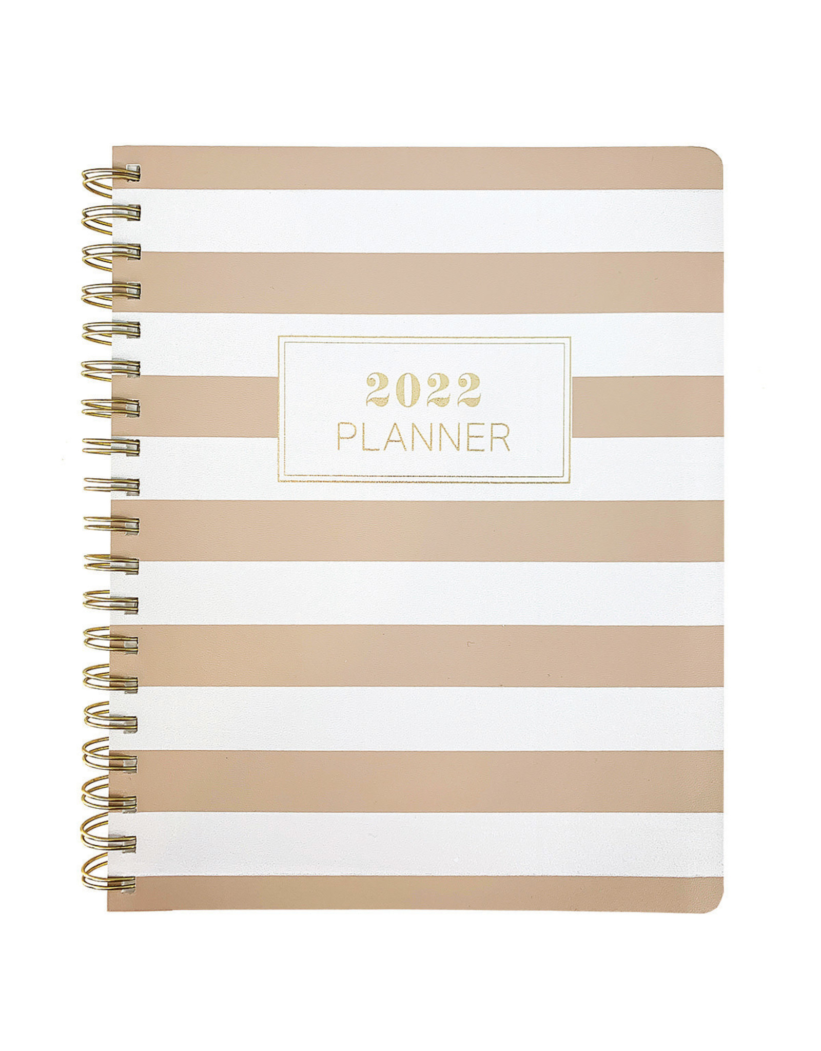 Graphique diary (18 months) with rings 'white/brown stripes'
