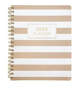 Graphique agenda 2021-2022 - 18mths - ringen - wit/bruin gestreept
