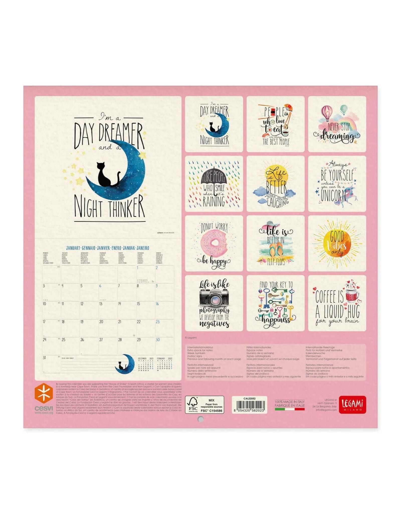 calendar 2022 with inspiring aphorisms