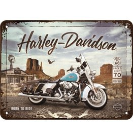 Nostalgic Art sign - 15x20 - Harley Davidson Route 66 (4)
