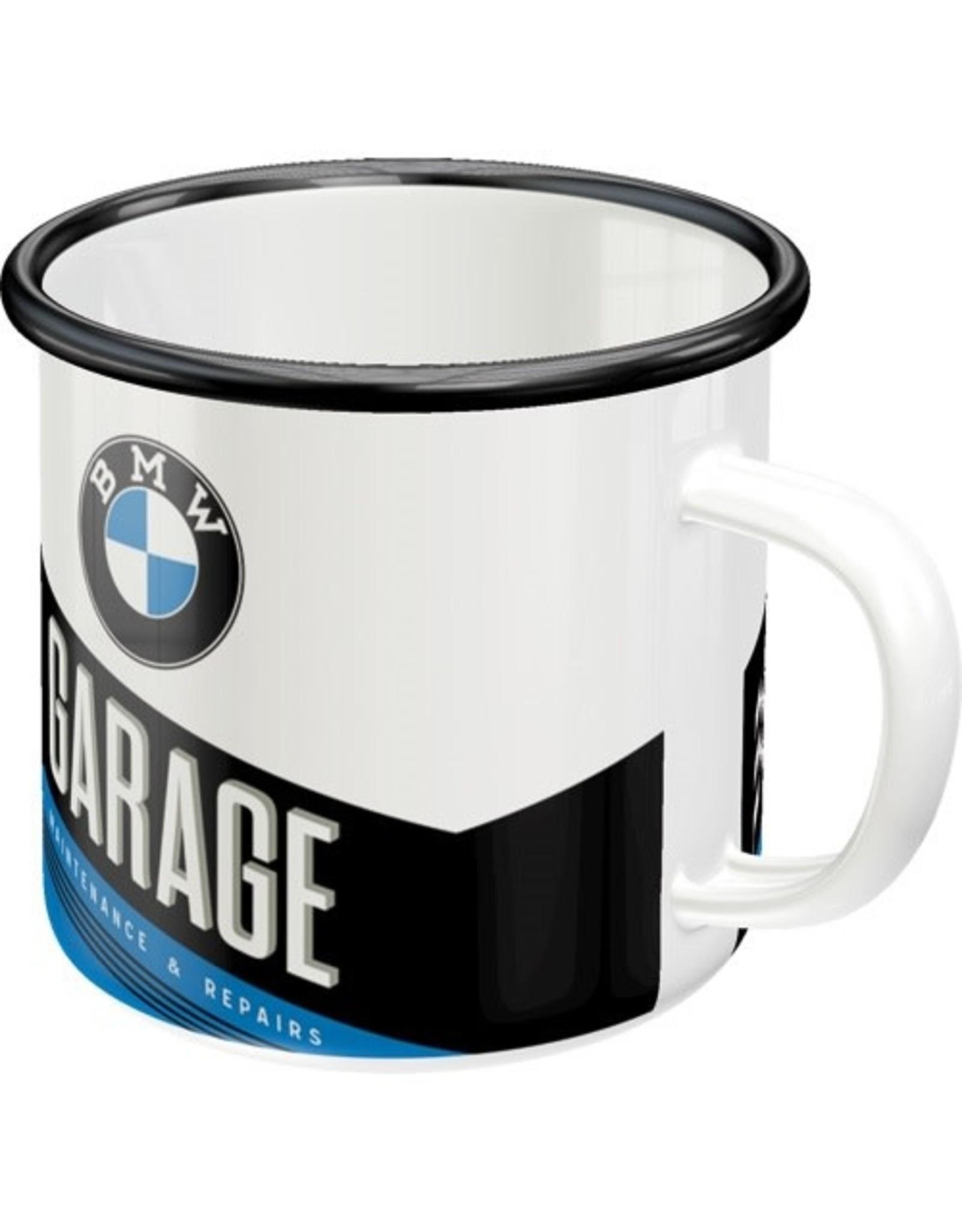 enamel mug - BMW garage (4)