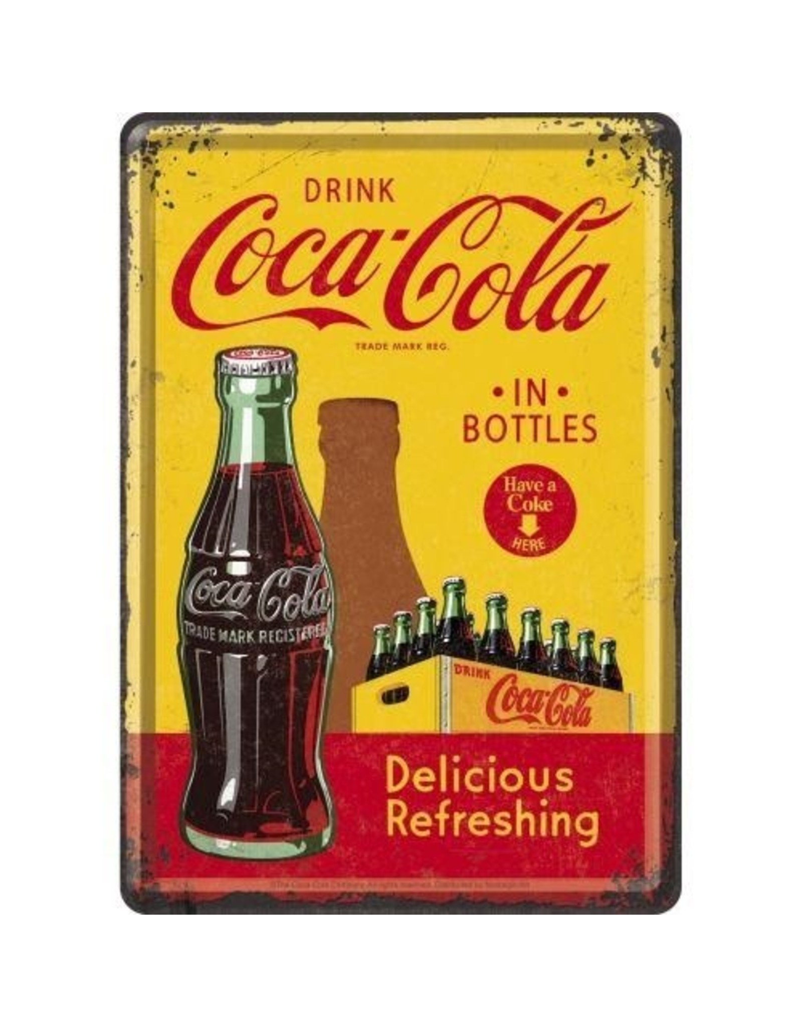 Nostalgic Art card - coca Cola bottles (5)