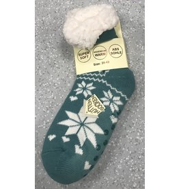 Lietho winter socks - Norway (teal/white) (35-38)