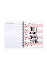 Tri Coastal diary (12 months) with rings 'just do your best'