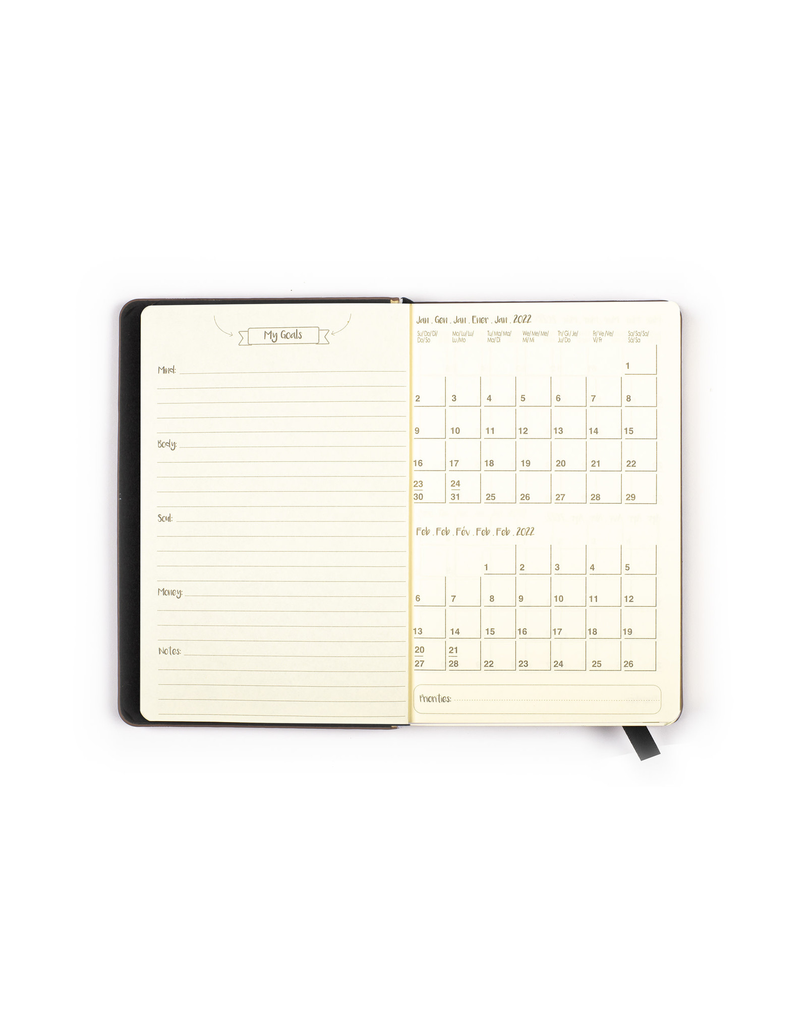 Tri Coastal pocket diary (12 months) 'happiness'