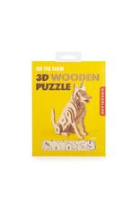 Kikkerland 3D wooden puzzle shaped like a dog