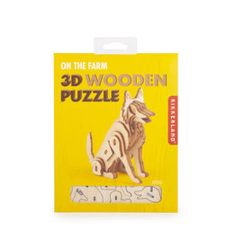Kikkerland 3D wooden puzzle - dog