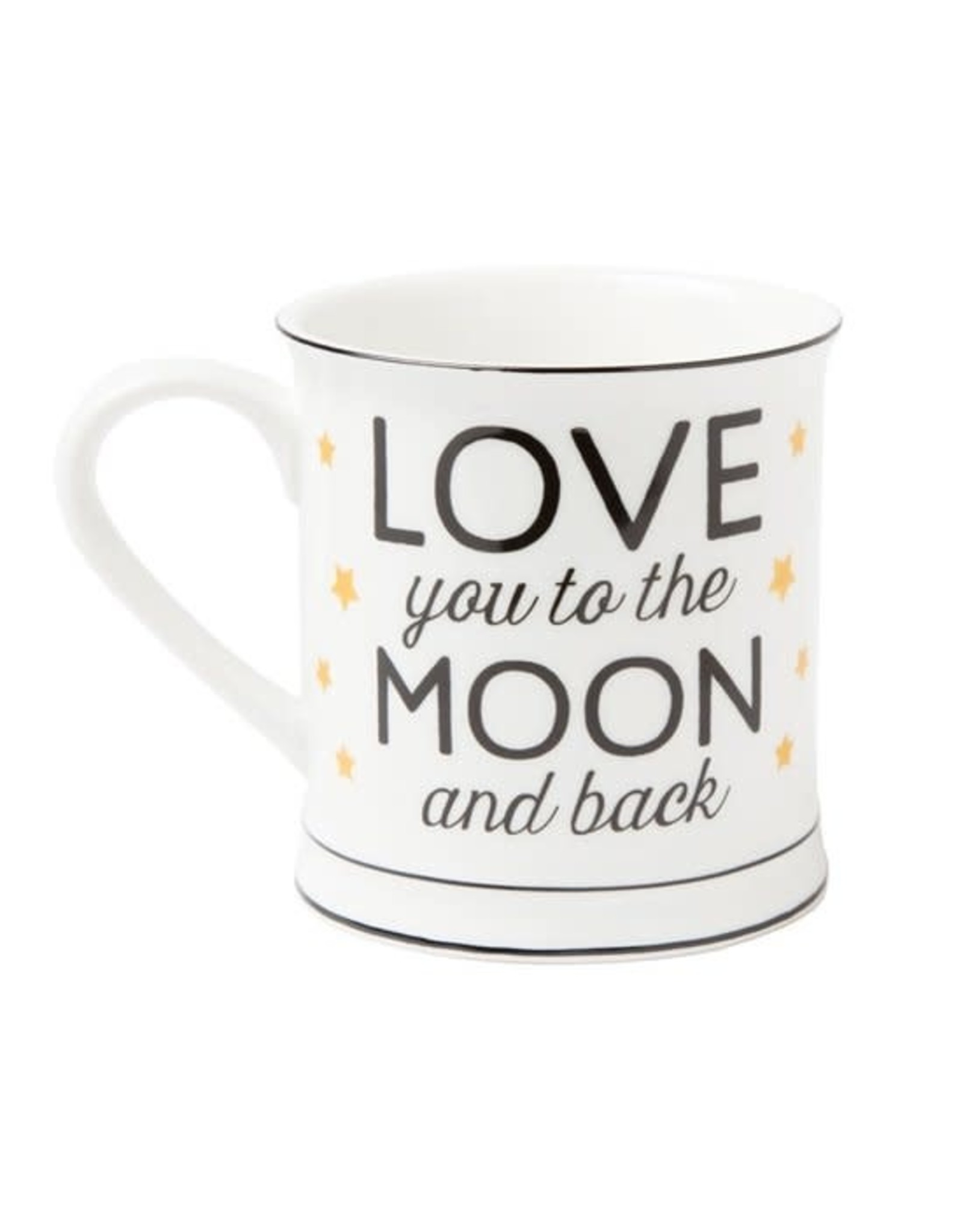 """Sass & Belle mug with text """"love you to the moon and back"""""""