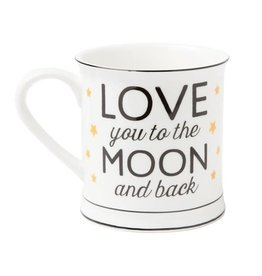 Sass & Belle mug - love you to the moon and back