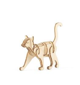 Kikkerland 3D wooden puzzle - cat