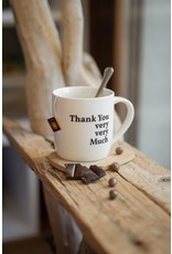 """drinking cup with text """"thank you very very much"""""""
