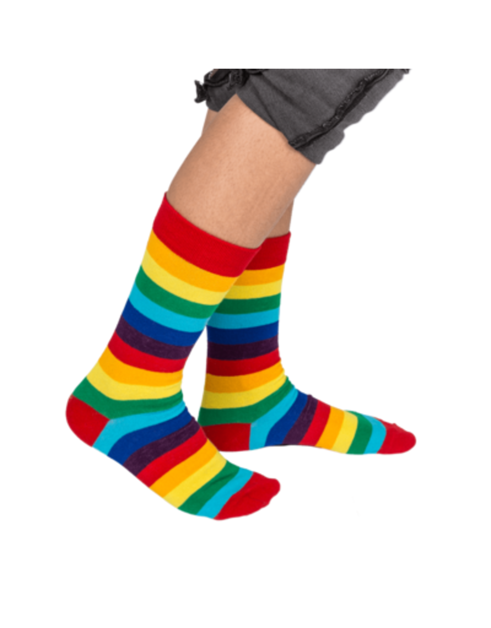 Out Of The Blue rainbow stockings in can