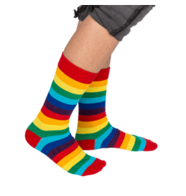 Out Of The Blue socks - rainbow in can