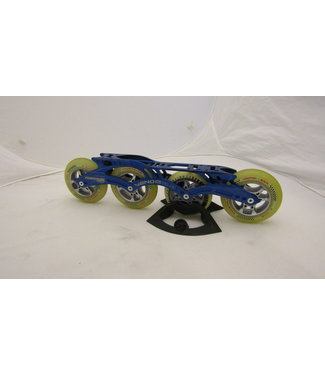 "Powerslide 2e Hands 12.8"" 1x90/3x100 Skeelerframe Powerslide Venom incl. wielen"