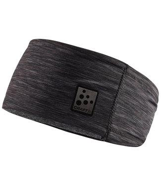 Craft Craft Microfleece Shaped Headband Black Melange