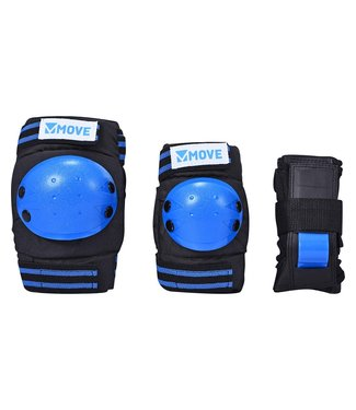 Move 3-Pack Basic Kids Protectieset Blue