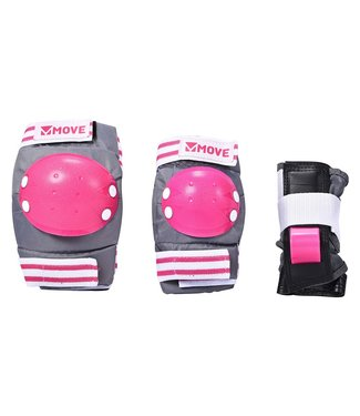 Move 3-Pack Basic Kids Protectieset Pink