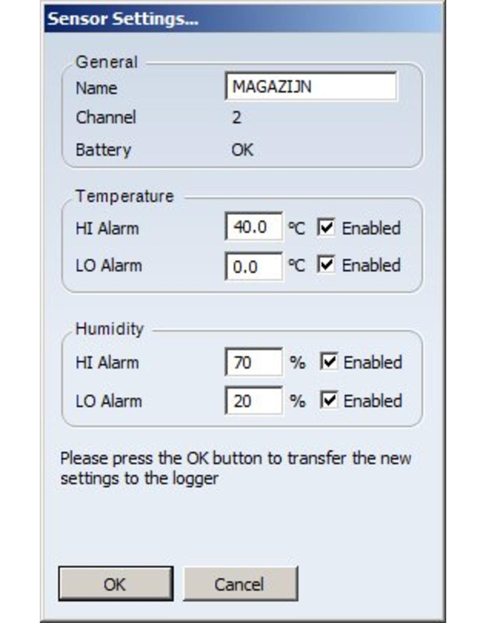 TFA 007 Thermo-hygrometer, log, alarm, optie: tot 8 externe sensoren TFA 100
