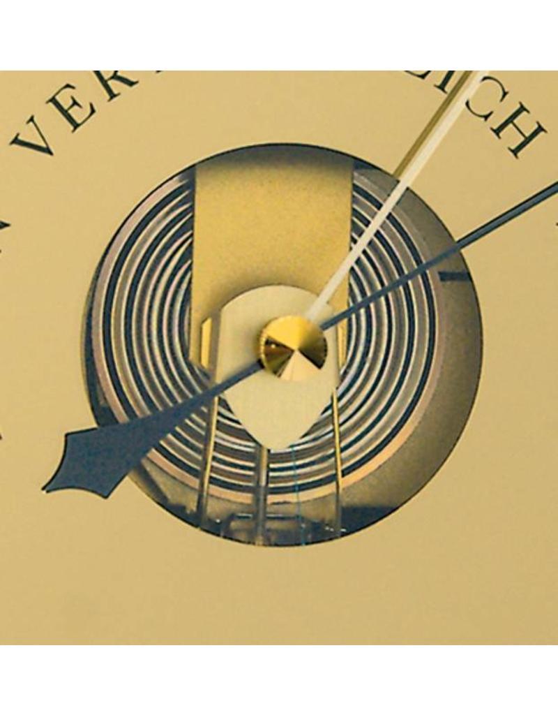 Fischer 015  Barometer  in mooie klassieke uitvoering gevat in houten lijst, Ø 24 cm