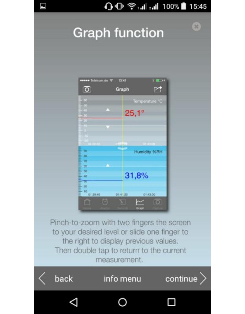 TFA 001 Hygrometer en thermometer voor smartphones - met app - ZWART