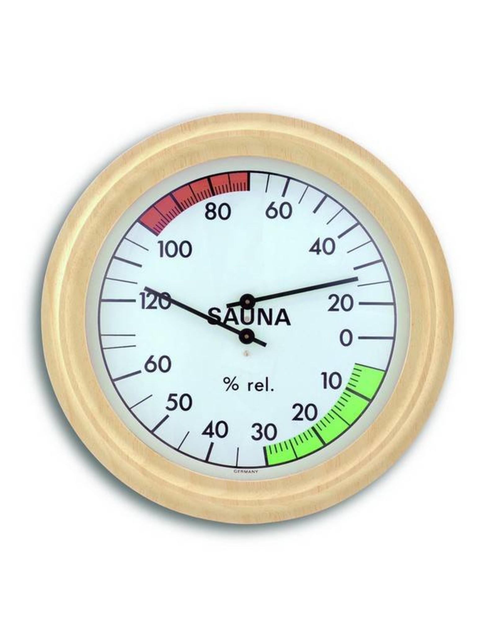 TFA 011 Vor sauna, thermo-hygrometer, met comfortzones, Ø19cm