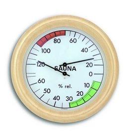 TFA 011 Voor sauna, thermo-hygrometer, met comfortzones, Ø19cm