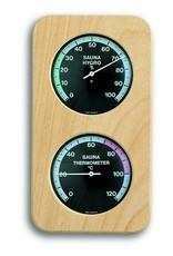TFA 012 Voor sauna, thermo- en hygrometer, mooie houten lijst