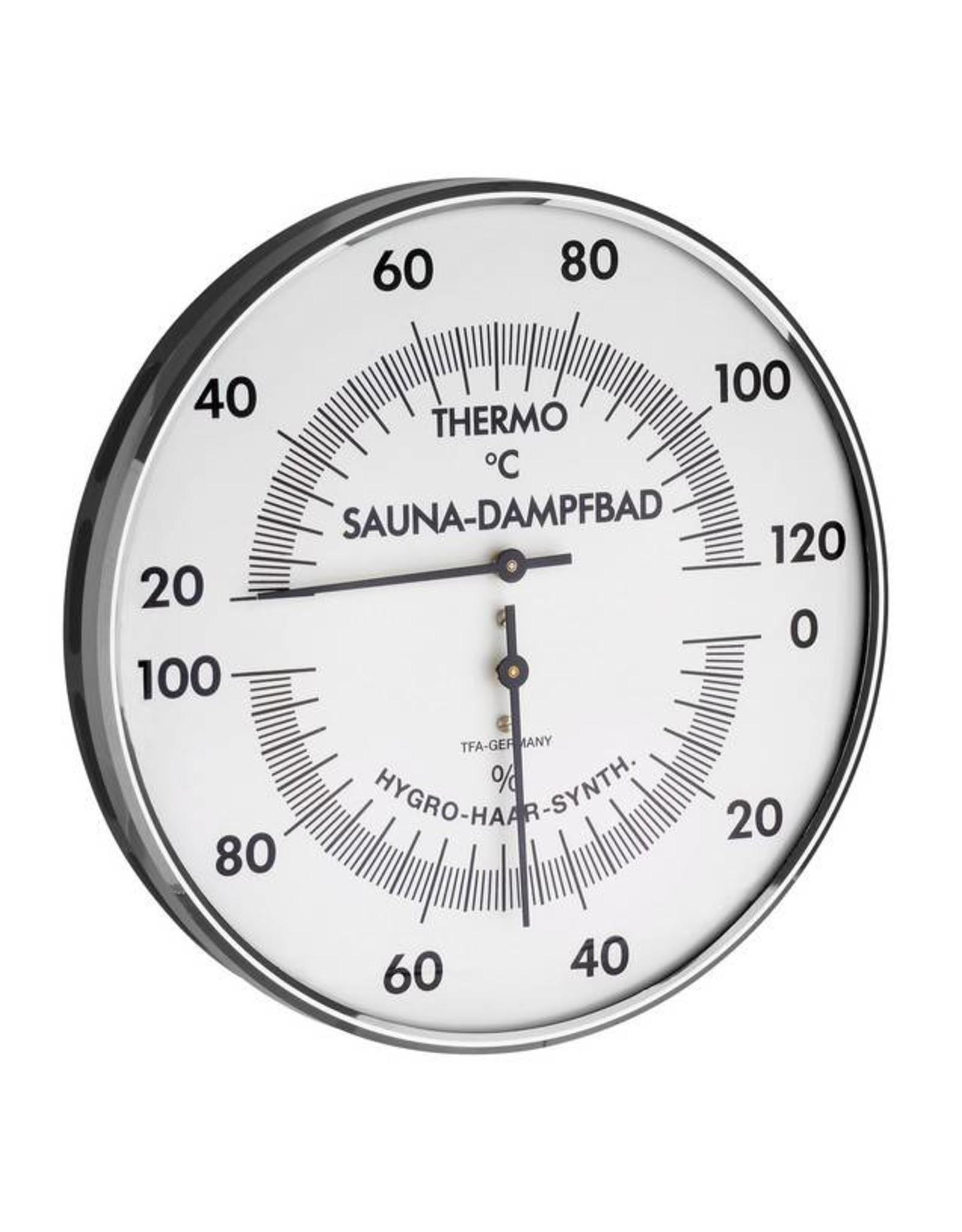 TFA 013 Voor sauna en stoombad, thermo-hygrometer,  snel en nauwkeurig