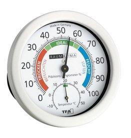 TFA 016 Hygrometer met thermometer, gekleurde comfort-zones, kan ook staan