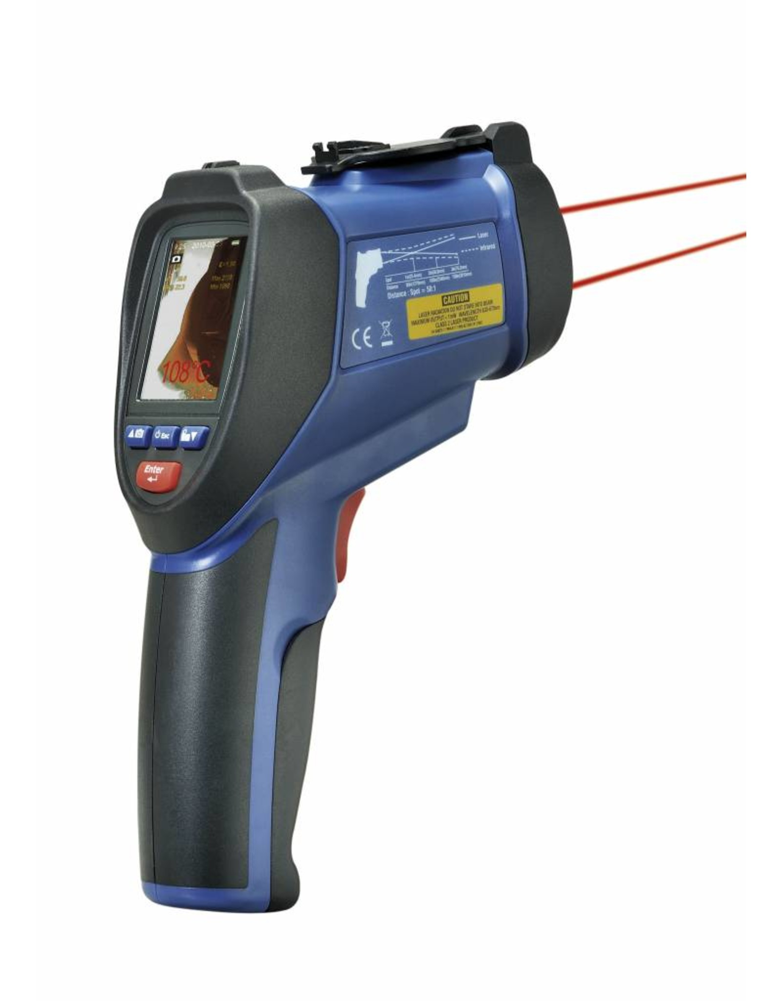 TFA 028 infrarood oppervlakte-thermo - hygrometer - datalog - video- en foto opnames