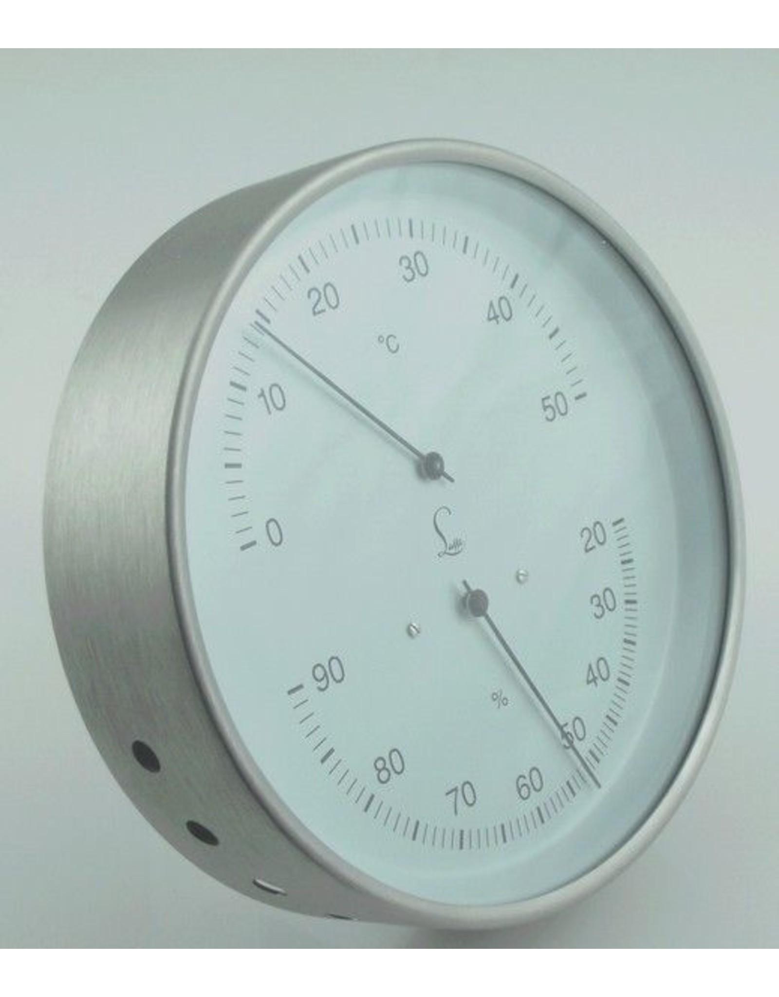 Lufft 002 Hygrometer en thermometer, roestvrij stalen behuizing