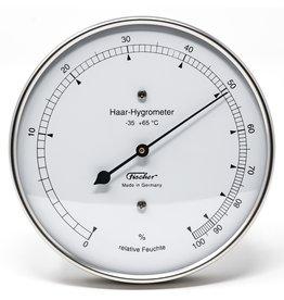 Fischer 005 Hygrometer mensenhaar, stijlvol, roestvrij stalen frame