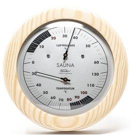 Fischer 003 thermo-en hygrometer voor sauna-mooie houten lijst