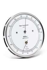 Fischer 007 Hygrometer en thermometer, roestvrij stalen behuizing