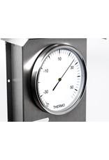 Fischer 011  Hygrometer  thermometer, barometer, in roestvrij stalen uitvoering