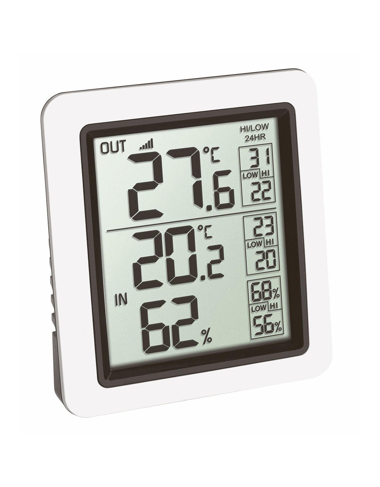 TFA 004 thermo- hygrometer met draadloze buitensensor temperatuur