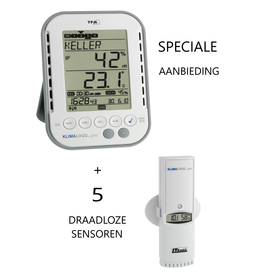 TFA 105 AANBIEDING: TFA 007 met 5 sensoren TFA100