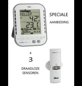 TFA 103 AANBIEDING: TFA 007 met 3 sensoren TFA100