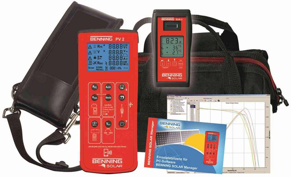 Benning PV 2 Set - Installation tester for photovoltaic systems and curve  tracer