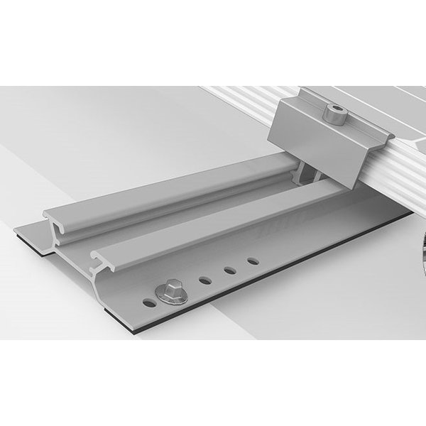 PV Mounting System Kit Trapezoidal Sheet Metal for 4 Modules